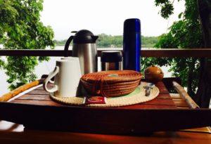 Jicaro Island Ecolodge casita breakfast